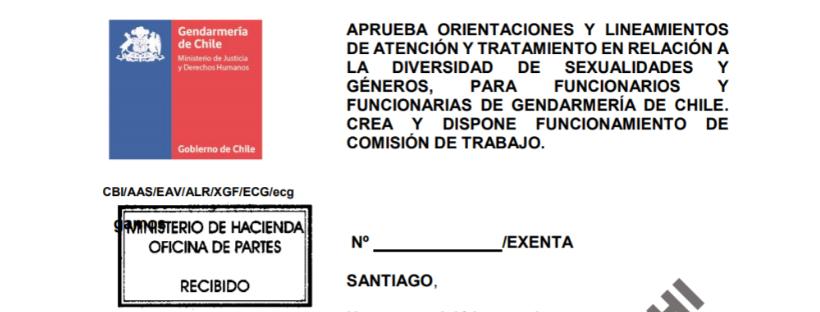 Fragmento de la propuesta de protocolo trans