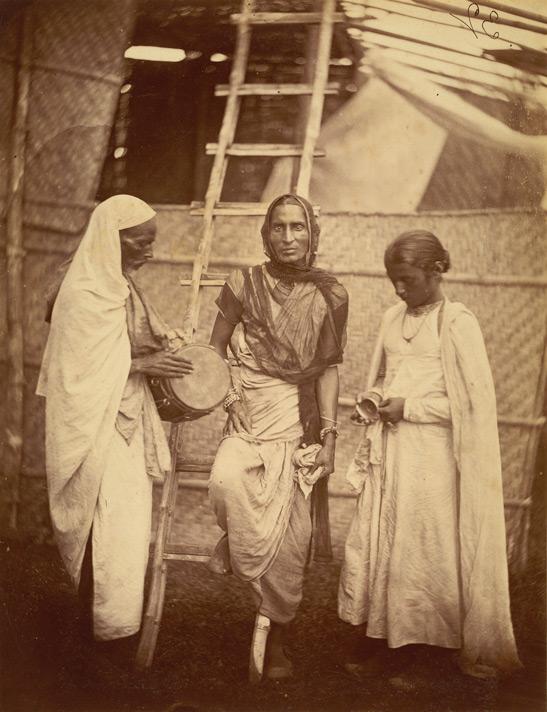 Retrato de une reputade Hijra y compañeres, Bengala Oriental, 1860
