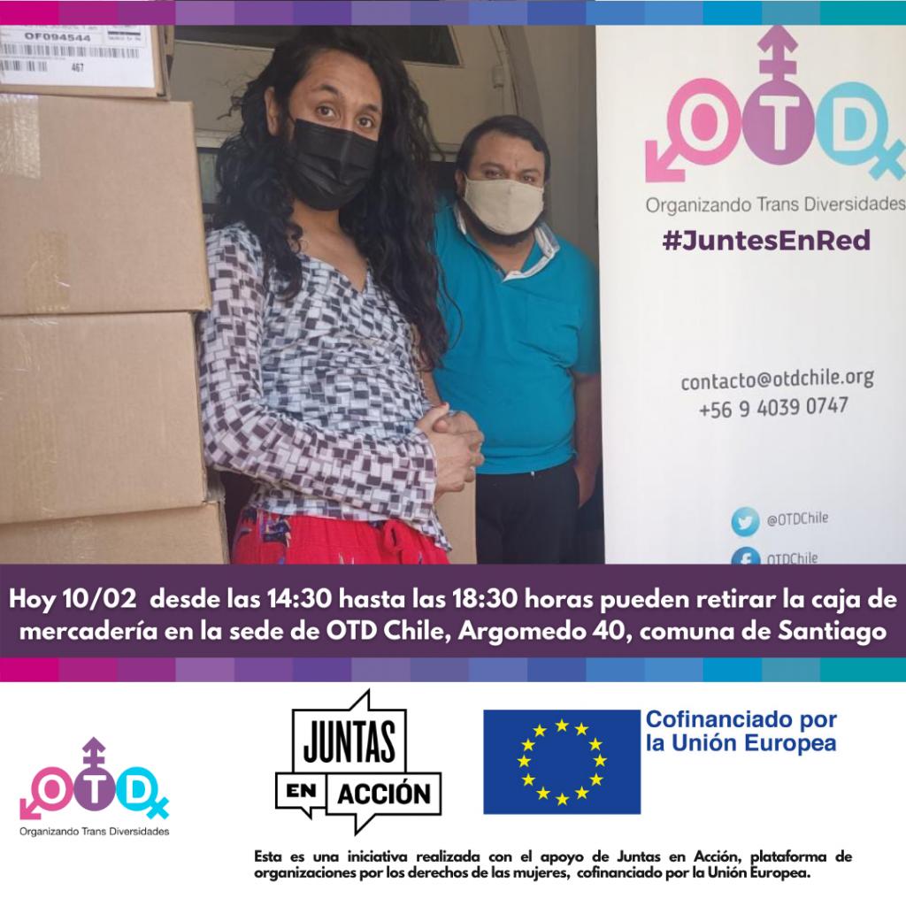 Tercera y cuarta entrega de ayuda a la comunidad trans y no binaria de la Región Metropolitana