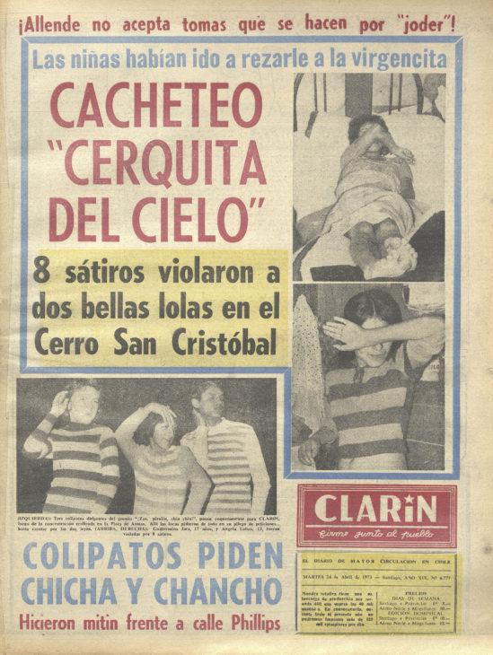 Clarín. Santiago : [Editor no identificado], 1954-1973. 19 tomos, año 19, número 6777, (24 abril 1972). #MemoriaChilena